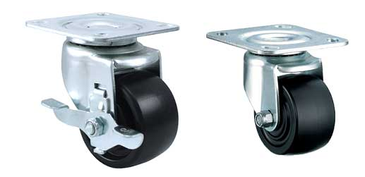 4 Series: Medium Duty Low Profile Machine Casters